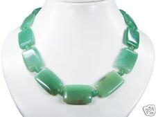 Superior De Diseño Collar de Aventurina Forma Rectangular 48cm