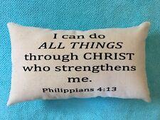 Scripture  Philippians Pillow Inspiration Affirmation