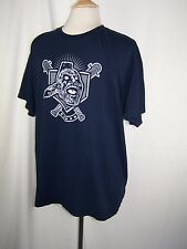 ATLANTA BRAVES Screaming Indian Gildan DryBlend Shirt jersey L Large Navy Blue