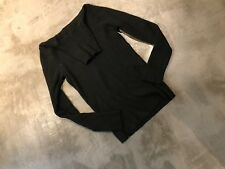 Olsen Europe Women's Black Merino Blend Turtleneck Sweater - SZ 6
