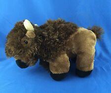 "VERY NICE Buffalo Plush Stuffed Animal 10"" Wishpets Banu Square-O Toy Figure"