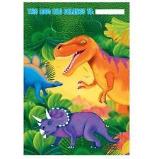 8pk Prehistoric Party Loot Bags Dinosaur Birthday Favour Bags