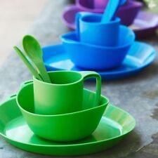 Kampa 16 Pièces Camping Vaisselle Set-Artisan Style-Ebony Cobble