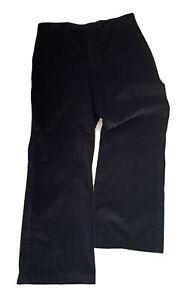 Aquascutum Men's Trousers Black Jumbo Corduroy Size 34 R Vintage Casual Wear