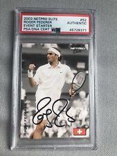 Roger Federer Signed NetPro Elite Rookie Card PSA/DNA Autographed Autograph Auto