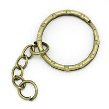 "30PCs Bronze Tone Key Chains & Key Rings 5.3cm(2 1/8"")"