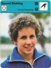 1978 Sportscaster Card Speed Skating Anne Henning # 22.02 NRMINT.
