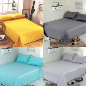 Solid Microfiber Double King Bedsheet Set 304 TC Egyptian Comfort