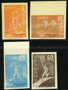 PANAMA #C234-C237 Olympic Games Imperforated Postage Stamps Latin America MNH OG