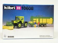 "KIBRI HO U/A ""TRACTOR w/FRONT CUTTER & COLLECTION TRAILER"" PLASTIC MODEL KIT"