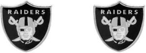 Las Vegas Raiders Football Team Logo NFL Silver Post Stud Earrings Set