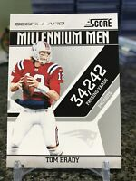2011 Score Millenium Men #18 Insert Tom Brady Scorecard Parallel SP Patriots!!!