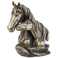 Pferdebüste Büste Pferd Bronze Look Sammlerfigur Dekoration Westerndeko