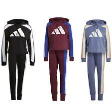 adidas Jogginganzug Freizeit Anzug Sportanzug Damen aus 70% Baumwolle mit Kapuze