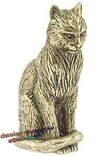 Bronze Solid Brass IronWork Figurine Thoughtful Cat Miniature 1734