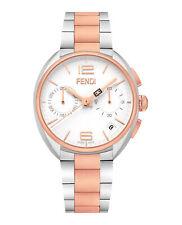 Совершенно новый роскошный Fendi часы мужчин белый циферблат F213214000