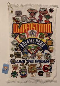 2006 BASEBALL COOPERSTOWN DREAMS PARK-LIVE THE DREAM- 43 PIN COLLECTION W/ TOWEL