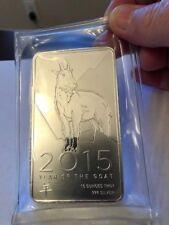 2015 Year of the Goat 10 Troy Ounces .999 Fine Silver Bullion Bar