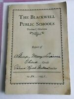 "Vintage Report Card 1930-31 The Blackwell Public Schools 6"" X 4"""
