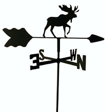 MOOSE  GARDEN STYLE WEATHERVANE BLACK WROUGHT IRON LOOK MADE IN USA TLS1030IN