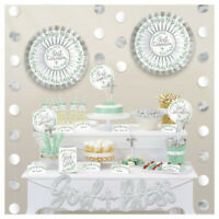 FIRST COMMUNION BUFFET Decoration Religious Ceremony God Bless Cross Wall Table