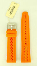 Fossil Orange Rubber Watch Band 22mm Watch Strap Replacement AMS170 Watchband