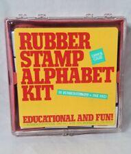 Rubber Stamp Alphabet Kit Rubberstampede 1987 Vintage 28 Stamps Upper Case