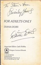 DIANA DORS FOR ADULTS ONLY RARE SIGNED PAPERBACK BOOK COA