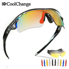 Outdoor Polarized Cycling Glasses Mountain Bike Sports Sunglasses Goggles 5 Lens