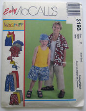 McCall's 3193 Pattern - Child's Shirt Tank Top Cropped Pants Shorts XSM/SM UNCUT