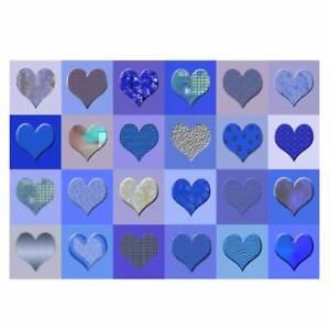 Unique High Quality Various Design Blue Hearts Gift Wrap -Size A3