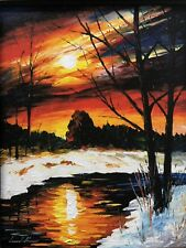 Leonid Afremov Painting--Ltd Edition On Canvas-Set In Custom Framing 11,5х14''