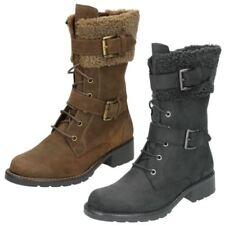 Calzado de mujer Botas de caña media Clarks de piel