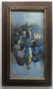 Alfredo Buenaventura Modernist Philippines Market Ptg Listed Filipino Artist