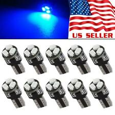 10X Blue 74 T5 3-SMD LED Bulbs Dashboard Dash Gauge Side Instrument Panel