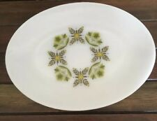 Serving Plate Anchor Hocking Suburbia Ovenproof Oval Shape Made In USA 1960's