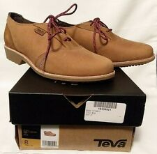 Teva Womens Shoes - Oxford Waterproof Leather/Suede - Lace up - Size 8