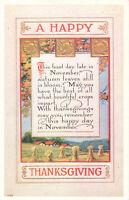 Postcard A Happy Thanksgiving