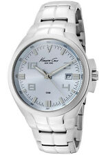 KENNETH COLE NY DRESS BLUE DIAL DATE STAINLESS STEEL MEN'S WATCH KC3597 NEW