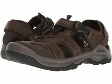 Teva Men's Omnium 2 Leather Fisherman Sandals - Turkish Coffee