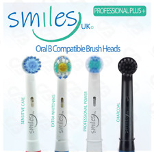 Electric Toothbrush Heads Compatible with ORAL-B BRAUN Made By Smiles UK Oral B