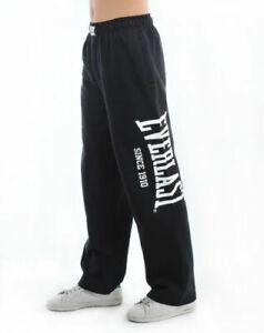Everlast Mens Gym Pants Tracksuit Sports Jogging Bottom Slim Fit Open Hem Size S