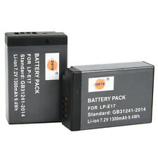 DSTE 2x LP-E17 Battery for Canon EOS M3,M6 Mark II,Rebel SL3,250D,Kiss X10