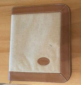 A4 Borrelli Dokumentenmappe / Konferenzmappe, braun, Leder/Textil, gebraucht