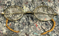 Early Eyeglasses With Hand Knit Ear Guards