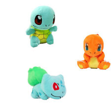 Set of 3 Pokemon Kanto Bulbasaur , Charmander And Squirtle Soft Plush Doll Toys