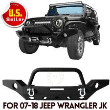 For Jeep Wrangler JK Front Bumper W/D-ring & Fog Light Hole & Winch Plate