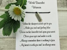Warrior Wish Bracelet Anxiety Gift Card Bear Charm Anklet Friendship Worry