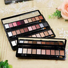HOT 10Color Eyeshadow Palette Matte Shimmer Brush Mirror Set Cosmetic Kit