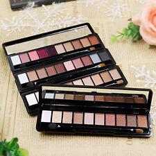 Neuf Pro 10 Couleur Ombre Fard à Paupières Maquillage Palette avec Brosse Miroir